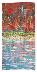 Friday At The Beach - Sold Beach Towel by George Riney