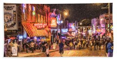 Friday Night On Beale Beach Towel