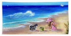 Friendly Encounter Beach Towel