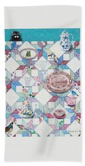 Friends Come To Tea Beach Towel