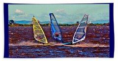 Friends Windsurfing Beach Towel