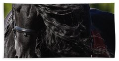 Beach Towel featuring the photograph Friesian Beauty D8197 by Wes and Dotty Weber