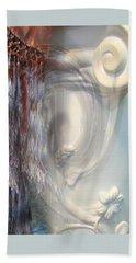 Beach Towel featuring the photograph Fringe Element - Pastel Abstract by Brooks Garten Hauschild