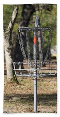 Frisbee Golf Beach Towel by Debra Forand