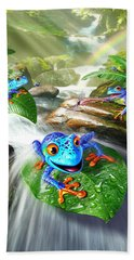 Frog Capades Beach Towel
