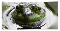 Frog Kiss Beach Sheet by Dianne Cowen