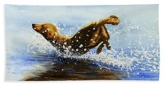 Frolicking Dog Beach Sheet