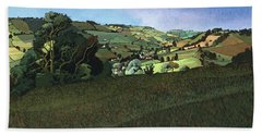 From Solsbury Hill Acrylic On Canvas Beach Towel
