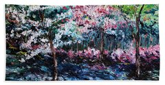 Beach Towel featuring the painting From The Earth by Meaghan Troup