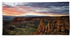 From The Overlook - Colorado National Monument Beach Towel by Ronda Kimbrow