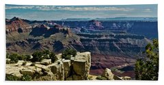 Beach Towel featuring the photograph From Yaki Point 2 Grand Canyon by Bob and Nadine Johnston