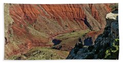 Beach Towel featuring the photograph From Yaki Point 5 Grand Canyon by Bob and Nadine Johnston