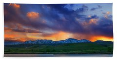 Front Range Light Show Beach Towel