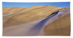 Frost Accents The Sand Dunes In Oregon Beach Towel