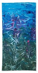 Lagoon Bloom Beach Towel