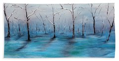Beach Towel featuring the painting Frost Like Ashes by Meaghan Troup