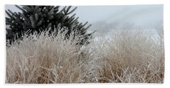 Frosted Grasses Beach Towel