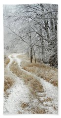 Beach Towel featuring the photograph Frosty Trail by Penny Meyers
