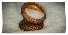 Frozen Acorn Cupule Beach Towel