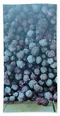 Frozen Blueberries Beach Towel
