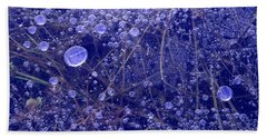Frozen Bubbles In The Merced River Yellowstone Natioinal Park Beach Towel