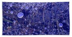 Frozen Bubbles In The Merced River Yosemite Natioinal Park Beach Towel