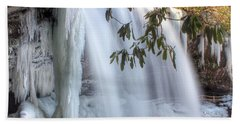 Frozen Dry Falls Beach Towel