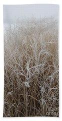 Frozen Grass Beach Towel