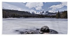 Beach Towel featuring the photograph Frozen Lake by Mae Wertz