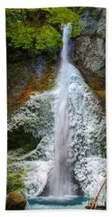 Frozen Marymere Falls Beach Towel by Inge Johnsson