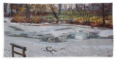 Frozen Pond Beach Towel