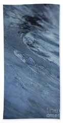 Beach Towel featuring the photograph Frozen Wave by First Star Art
