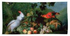 Fruit And Birds Beach Towel