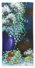 Fruit And Flowers Still Life Beach Towel