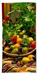 Beach Towel featuring the photograph Fruit And Wine by Mae Wertz