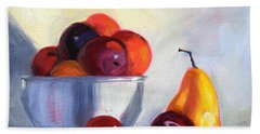 Fruit Bowl Beach Sheet by Nancy Merkle
