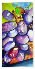 Purple Grapes Beach Towel