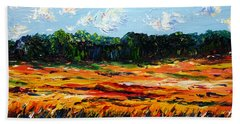 Beach Towel featuring the painting Fruition by Meaghan Troup