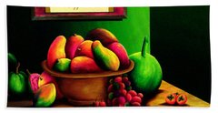 Fruits Still Life Beach Towel