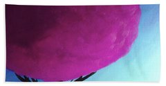 Fuchsia Tree Beach Towel by Anita Lewis