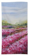 Beach Towel featuring the painting Full Bloom by Jane  See