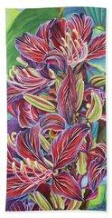 Full Blossom Orchid Tree Beach Sheet