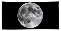 Beach Towel featuring the photograph Full Moon by Aaron Berg