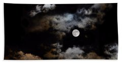 Full Moon After The Storm Beach Towel