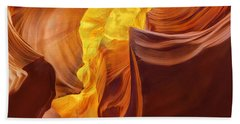 Full Moon In The Canyons Beach Towel