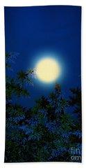Full Moon Beach Towel by Klara Acel