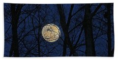 Full Moon March 15 2014 Beach Towel