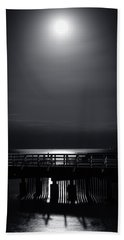 Full Moon Over Bramble Bay Beach Towel