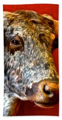 Beach Towel featuring the photograph Full Of Bull by Dee Dee  Whittle
