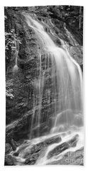 Fuller Falls Waterfall Black And White Beach Towel